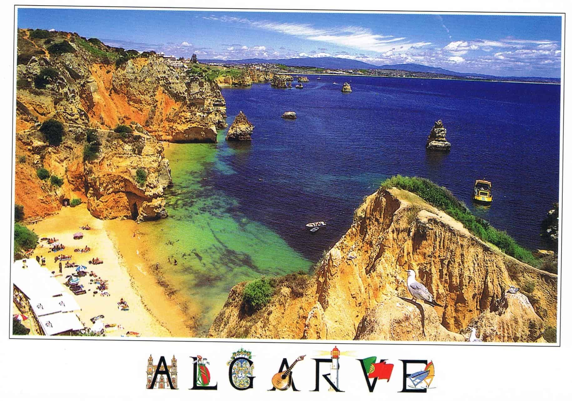Postal de Papel do algarve Praia do Camilo